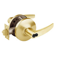 2870-10G26-GB-03 Sargent 10 Line Cylindrical Storeroom Locks with B Lever Design and G Rose Prepped for SFIC in Bright Brass