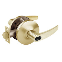 2870-10G26-GB-04 Sargent 10 Line Cylindrical Storeroom Locks with B Lever Design and G Rose Prepped for SFIC in Satin Brass