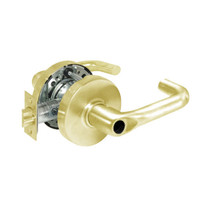 28LC-10G17-LJ-03 Sargent 10 Line Cylindrical Institutional Locks with J Lever Design and L Rose Less Cylinder in Bright Brass
