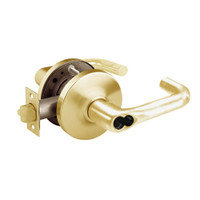 2860-10G17-GJ-03 Sargent 10 Line Cylindrical Institutional Locks with J Lever Design and G Rose Prepped for LFIC in Bright Brass