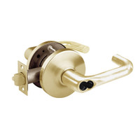 2860-10G26-GJ-04 Sargent 10 Line Cylindrical Storeroom Locks with J Lever Design and G Rose Prepped for LFIC in Satin Brass