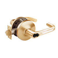 2860-10G38-GJ-10 Sargent 10 Line Cylindrical Classroom Locks with J Lever Design and G Rose Prepped for LFIC in Dull Bronze