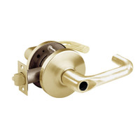 28LC-10G24-GJ-04 Sargent 10 Line Cylindrical Entry Locks with J Lever Design and G Rose Less Cylinder in Satin Brass