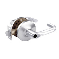 28LC-10G16-GJ-26 Sargent 10 Line Cylindrical Classroom Locks with J Lever Design and G Rose Less Cylinder in Bright Chrome