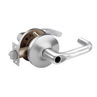 28LC-10G17-GJ-26D Sargent 10 Line Cylindrical Institutional Locks with J Lever Design and G Rose Less Cylinder in Satin Chrome