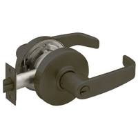 28-7G05-LL-10B Sargent 7 Line Cylindrical Entrance/Office Locks with L Lever Design and L Rose in Oxidized Dull Bronze