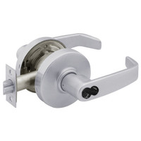 2870-7G37-LL-26D Sargent 7 Line Cylindrical Classroom Locks with L Lever Design and L Rose Prepped for SFIC in Satin Chrome
