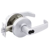 2870-7G37-LL-26 Sargent 7 Line Cylindrical Classroom Locks with L Lever Design and L Rose Prepped for SFIC in Bright Chrome