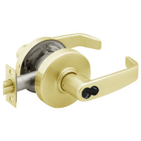 2870-7G37-LL-04 Sargent 7 Line Cylindrical Classroom Locks with L Lever Design and L Rose Prepped for SFIC in Satin Brass