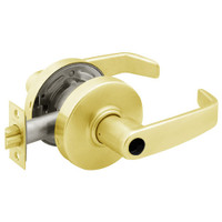 28LC-7G37-LL-03 Sargent 7 Line Cylindrical Classroom Locks with L Lever Design and L Rose Less Cylinder in Bright Brass