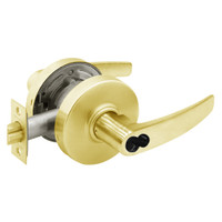 2860-7G04-LB-03 Sargent 7 Line Cylindrical Storeroom/Closet Locks with B Lever Design and L Rose Prepped for LFIC in Bright Brass