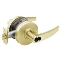 2870-7G04-LB-04 Sargent 7 Line Cylindrical Storeroom/Closet Locks with B Lever Design and L Rose Prepped for SFIC in Satin Brass