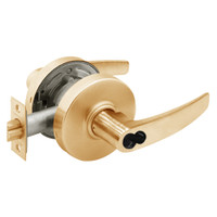 2870-7G04-LB-10 Sargent 7 Line Cylindrical Storeroom/Closet Locks with B Lever Design and L Rose Prepped for SFIC in Dull Bronze