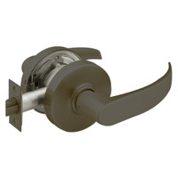 28-7U15-LP-10B Sargent 7 Line Cylindrical Passage Locks with P Lever Design and L Rose in Oxidized Dull Bronze