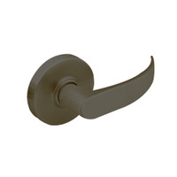 28-7U93-LP-10B Sargent 7 Line Cylindrical Single Lever Pull with P Lever Design and L Rose in Oxidized Dull Bronze