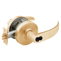 2870-7G37-LP-10 Sargent 7 Line Cylindrical Classroom Locks with P Lever Design and L Rose Prepped for SFIC in Dull Bronze
