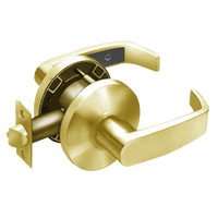 28-65U15-KL-03 Sargent 6500 Series Cylindrical Passage Locks with L Lever Design and K Rose in Bright Brass