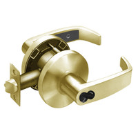 2860-65G37-KL-04 Sargent 6500 Series Cylindrical Classroom Locks with L Lever Design and K Rose Prepped for LFIC in Satin Brass
