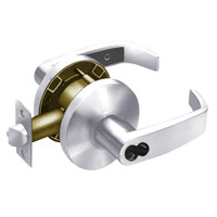 2870-65G37-KL-26 Sargent 6500 Series Cylindrical Classroom Locks with L Lever Design and K Rose Prepped for SFIC in Bright Chrome