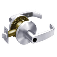 28LC-65G04-KL-26D Sargent 6500 Series Cylindrical Storeroom/Closet Locks with L Lever Design and K Rose Less Cylinder in Satin Chrome