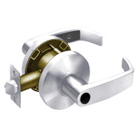 28LC-65G04-KL-26 Sargent 6500 Series Cylindrical Storeroom/Closet Locks with L Lever Design and K Rose Less Cylinder in Bright Chrome