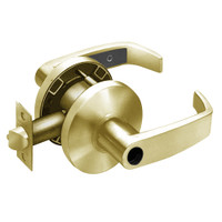 28LC-65G37-KL-04 Sargent 6500 Series Cylindrical Classroom Locks with L Lever Design and K Rose Less Cylinder in Satin Brass