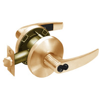 2870-65G37-KB-10 Sargent 6500 Series Cylindrical Classroom Locks with B Lever Design and K Rose Prepped for SFIC in Dull Bronze