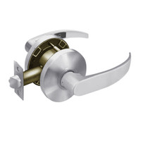 28-65U65-KP-26D Sargent 6500 Series Cylindrical Privacy Locks with P Lever Design and K Rose in Satin Chrome