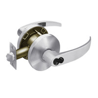 2860-65G04-KP-26D Sargent 6500 Series Cylindrical Storeroom/Closet Locks with P Lever Design and K Rose Prepped for LFIC in Satin Chrome