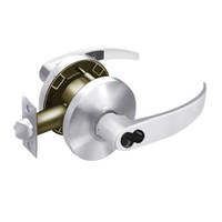 2860-65G37-KP-26 Sargent 6500 Series Cylindrical Classroom Locks with P Lever Design and K Rose Prepped for LFIC in Bright Chrome