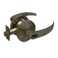 2860-65G37-KP-10B Sargent 6500 Series Cylindrical Classroom Locks with P Lever Design and K Rose Prepped for LFIC in Oxidized Dull Bronze