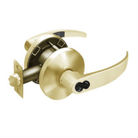 2870-65G04-KP-04 Sargent 6500 Series Cylindrical Storeroom/Closet Locks with P Lever Design and K Rose Prepped for SFIC in Satin Brass