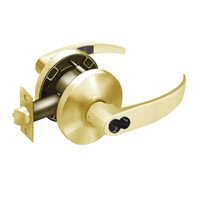2870-65G05-KP-03 Sargent 6500 Series Cylindrical Entrance/Office Locks with P Lever Design and K Rose Prepped for SFIC in Bright Brass