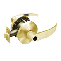 28LC-65G04-KP-03 Sargent 6500 Series Cylindrical Storeroom/Closet Locks with P Lever Design and K Rose Less Cylinder in Bright Brass