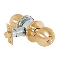 28-6G04-OB-10 Sargent 6 Line Series Knob Storeroom/Closet Locks with B Knob Design and O Rose in Dull Bronze