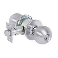 28-6G37-OB-26D Sargent 6 Line Series Knob Classroom Locks with B Knob Design and O Rose in Satin Chrome