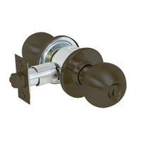 28-6G24-OB-10B Sargent 6 Line Series Knob Dormitory Locks with B Knob Design and O Rose in Oxidized Dull Bronze