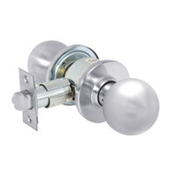 28-6U15-OB-26 Sargent 6 Line Series Knob Passage Locks with B Knob Design and O Rose in Bright Chrome