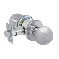 28-6U65-OB-26D Sargent 6 Line Series Knob Privacy Locks with B Knob Design and O Rose in Satin Chrome
