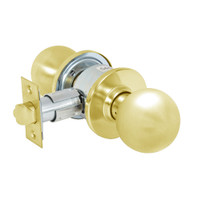 28-6U65-OB-03 Sargent 6 Line Series Knob Privacy Locks with B Knob Design and O Rose in Bright Brass