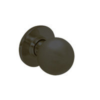 28-6U93-OB-10B Sargent 6 Line Series Single Knob Pull with B Knob Design and O Rose in Oxidized Dull Bronze