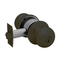 28-6G37-BS-10B Sargent 6 Line Series Knob Classroom Locks with S Knob Design and B Rose in Oxidized Dull Bronze