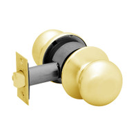 28-6U65-BS-03 Sargent 6 Line Series Knob Privacy Locks with S Knob Design and B Rose in Bright Brass