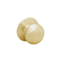 28-6U93-BS-04 Sargent 6 Line Series Knob Single Lever Pull with S Knob Design and B Rose in Satin Brass