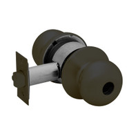 28LC-6G37-BS-10B Sargent 6 Line Series Knob Classroom Locks with S Knob Design and B Rose Less Cylinder in Oxidized Dull Bronze