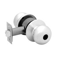 28LC-6G24-BS-26 Sargent 6 Line Series Knob Dormitory Locks with S Knob Design and B Rose Less Cylinder in Bright Chrome