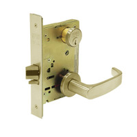 8231-LNL-04 Sargent 8200 Series Utility Mortise Lock with LNL Lever Trim in Satin Brass