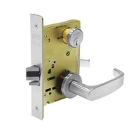 8289-LNL-26 Sargent 8200 Series Holdback Mortise Lock with LNL Lever Trim in Bright Chrome