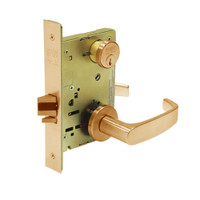 8289-LNL-10 Sargent 8200 Series Holdback Mortise Lock with LNL Lever Trim in Dull Bronze