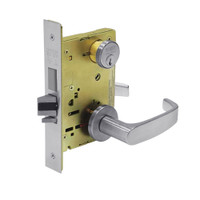 8243-LNL-26D Sargent 8200 Series Apartment Corridor Mortise Lock with LNL Lever Trim and Deadbolt in Satin Chrome